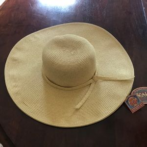 Scala Straw Sun Hat OS more for Sm/Md headsize